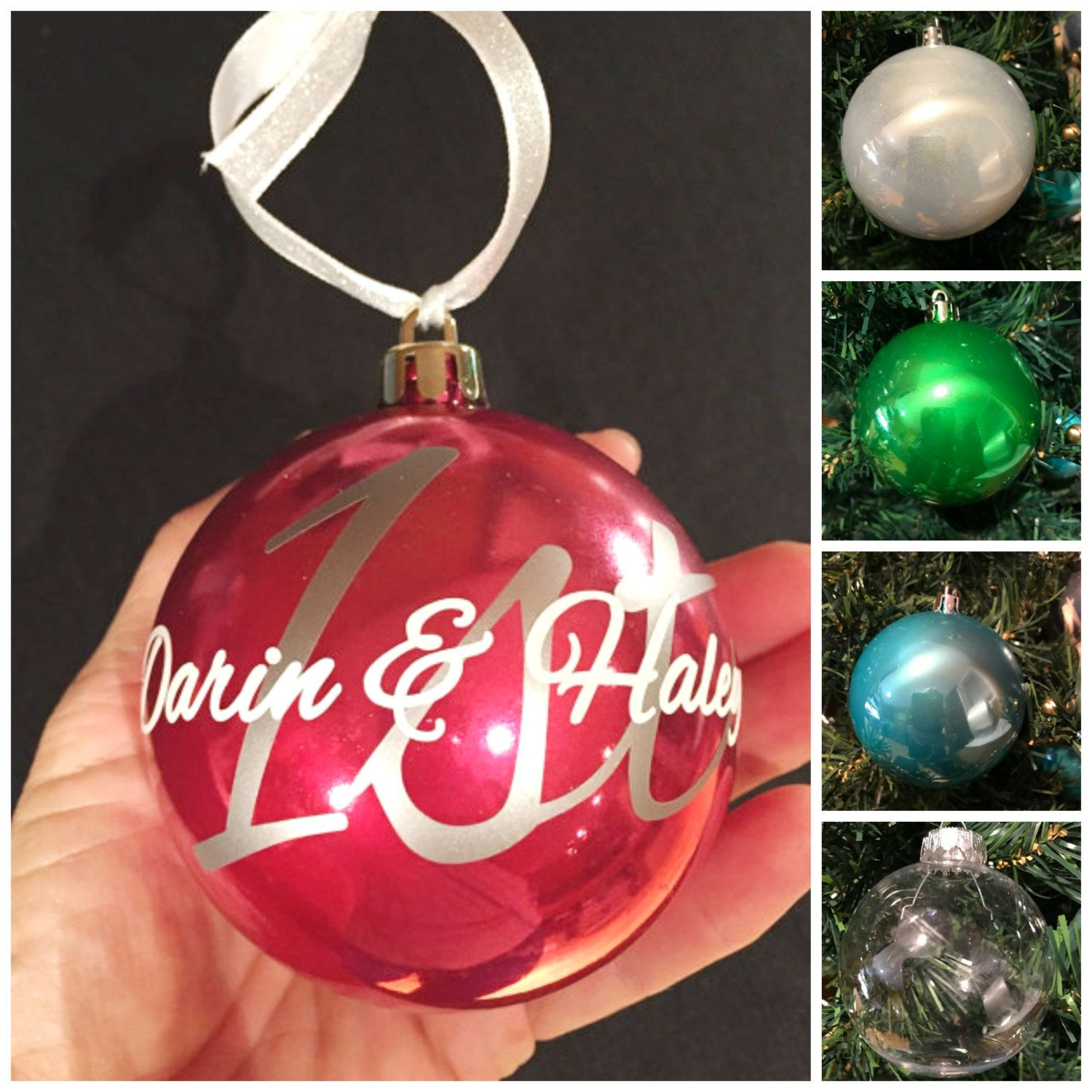 First Christmas together, Christmas engaged ornament, Christmas married  wedding ornament, personalized Christmas ball ornament, by  ArtsyWallsAndMore on Etsy
