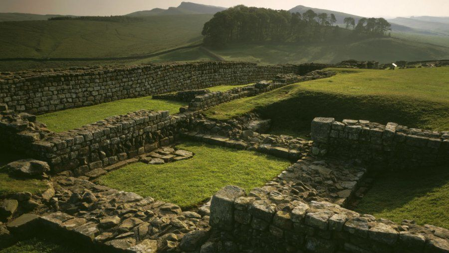 a view over housesteads fort at hadrians wall hadrians on hadrians wall id=41911