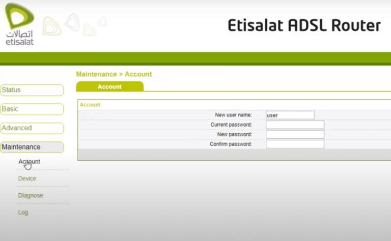 كيفية تغير باسورد الواى فاي راوتر اتصالات Etisalat و مميزات راوتر اتصالات الجديد