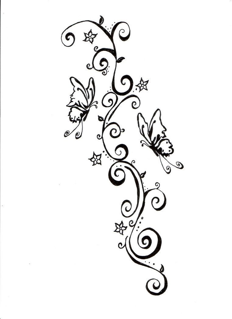 Create a tattoo design free - Buterfly Tattoo Simple Design