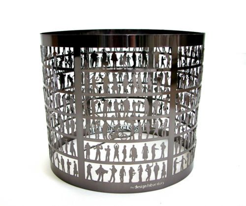 Habitat the design laboratory light lamp shade gunmetal cut out people