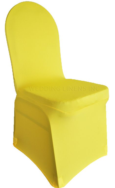 Chair Cover Rental Shreveport La 4moms High Spandex Banquet Covers Canary Yellow 62316 1pc Pk Bling