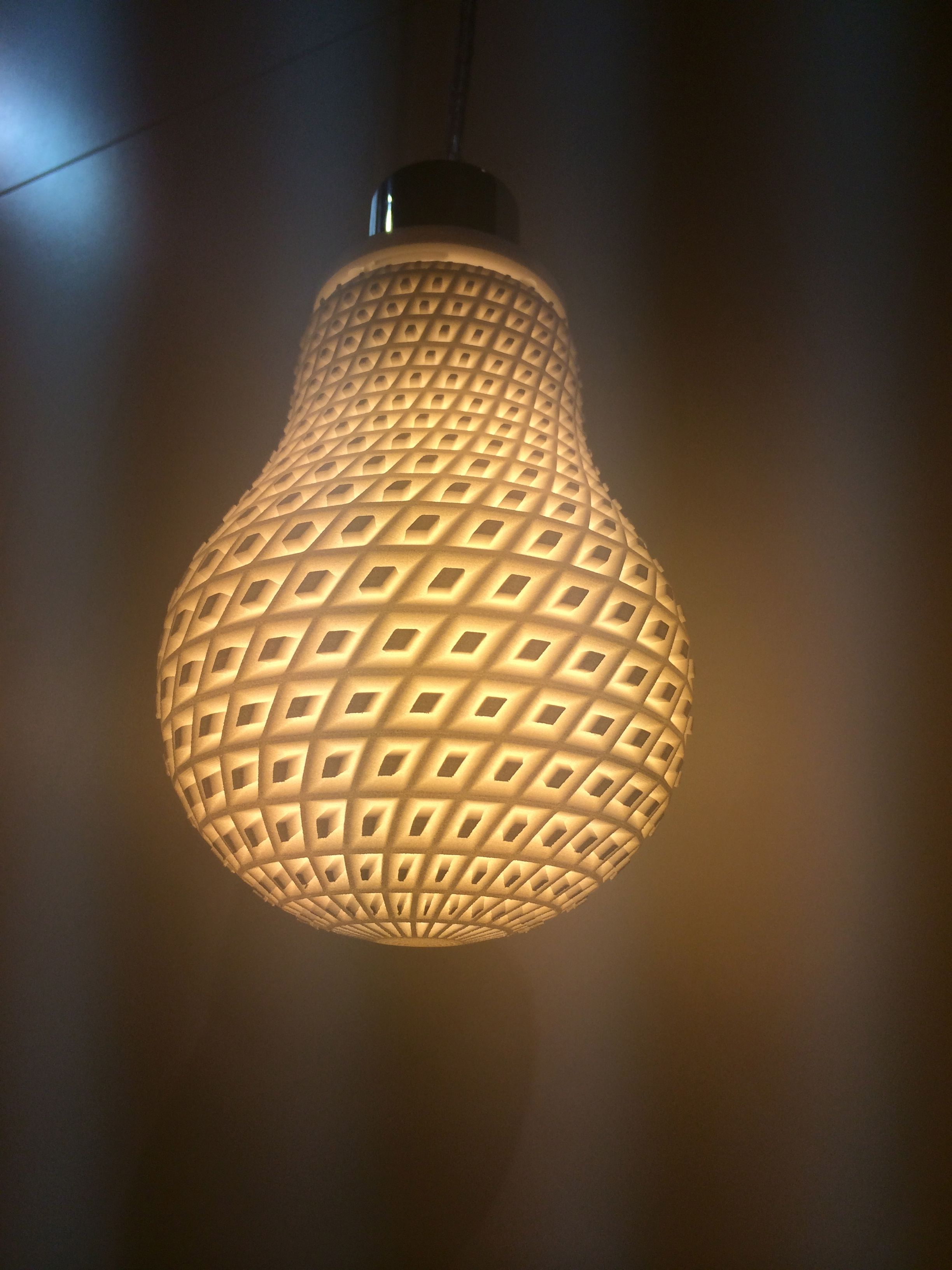 3d Printed Light Shade 3dprintedlightning Architectuur