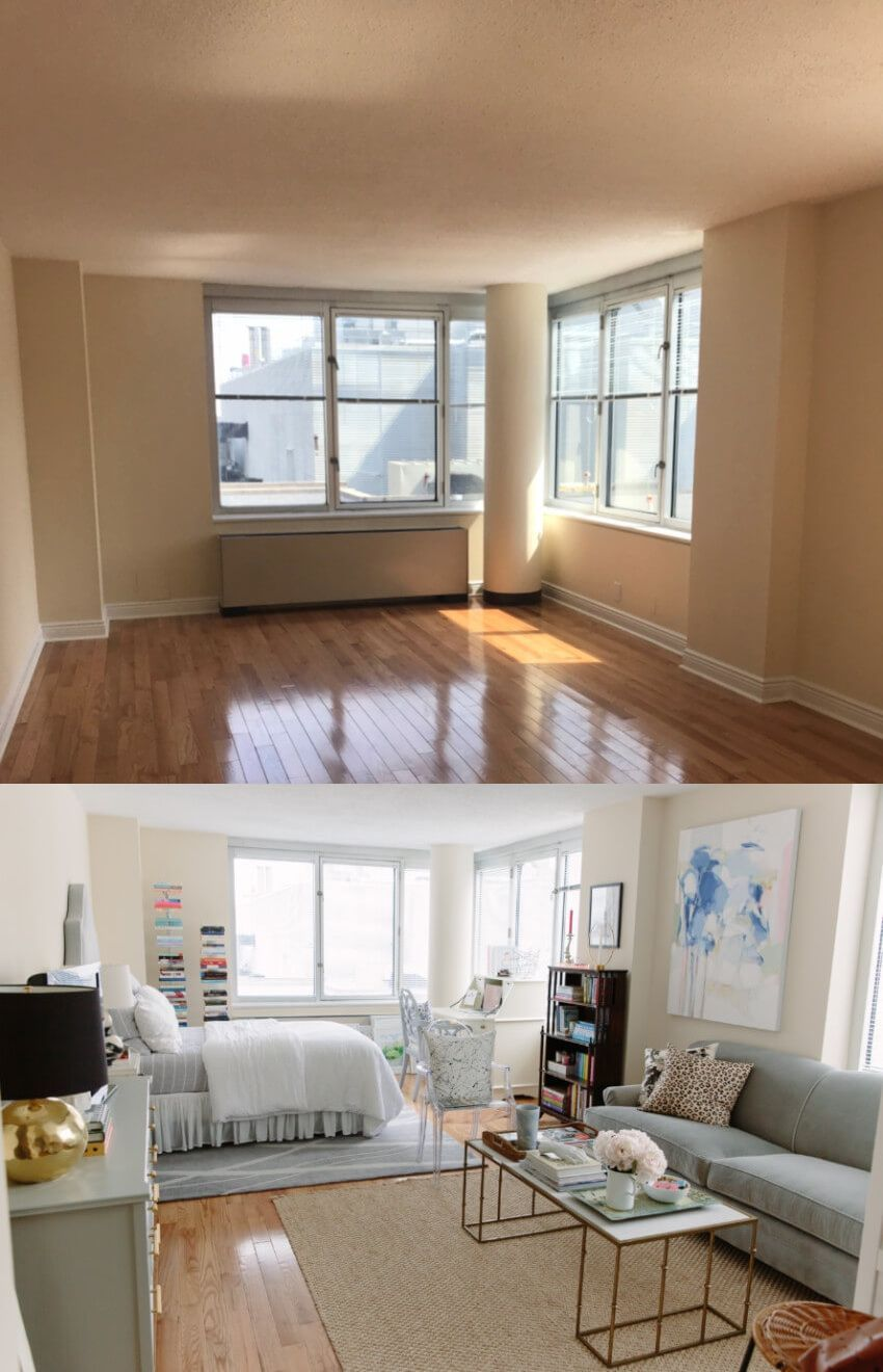 apartment decor before and after