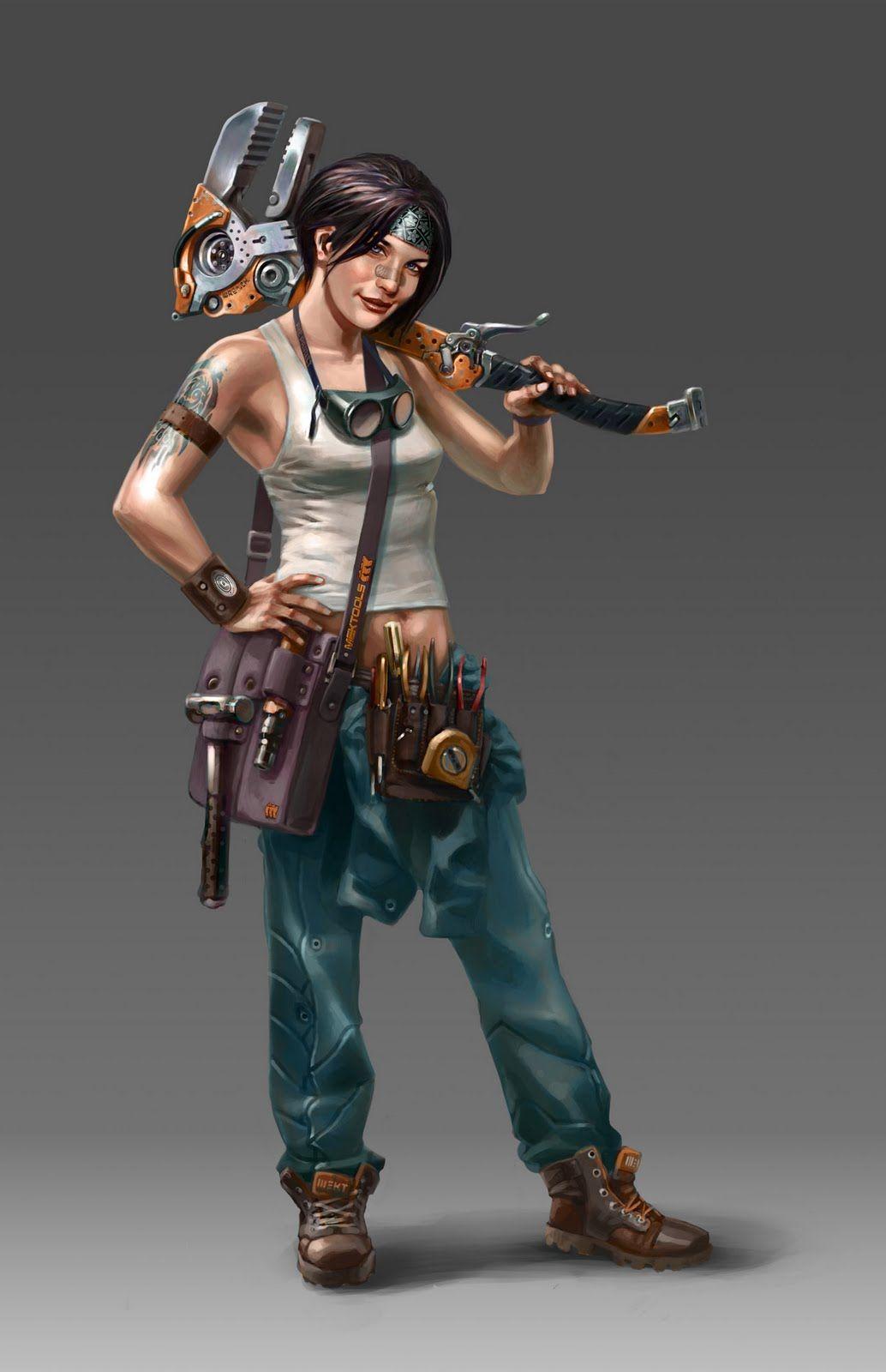 Female Mechanic Art