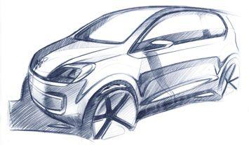 VW E Up! Concept Design Sketch