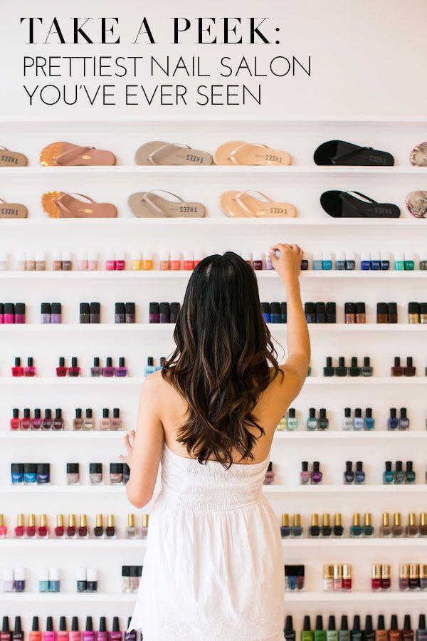 A peek inside the prettiest nail salon you 39 ve ever seen for Spa uniforms johannesburg