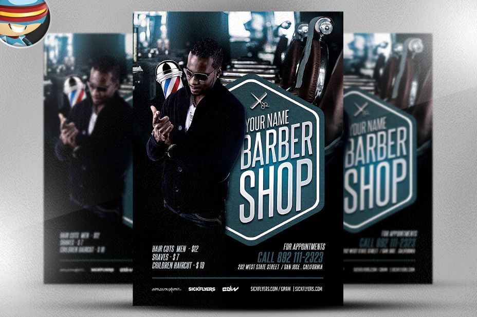 Salon Flyer Template Psd 20 Barber Shop Flyer Template Psd