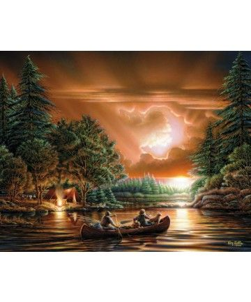 'Evening Rendezvous' Terry Redlin  1000 Piece Puzzle