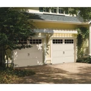 Clopay Gallery Collection 8 Ft X 7 Ft 18 4 R Value Intellicore Insulated White Garage Door With Sq24 Window Gr2lu Sw Sq24 The Home Depot Garage Door Styles Residential Garage Doors Garage Door Installation