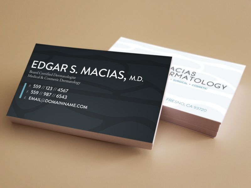 Macias Dermatology Business Cards | Creative Cards | Pinterest ...