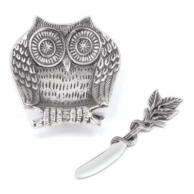 Star Home Owl Dip Dish and Spreader
