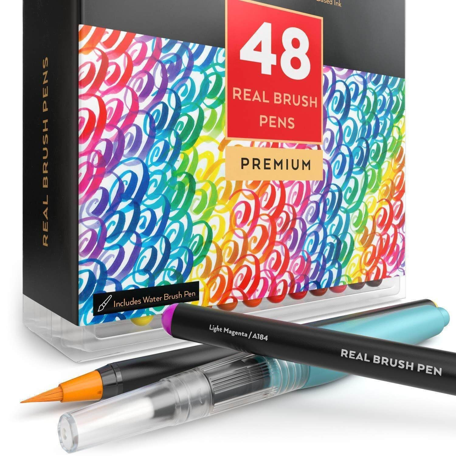 Real Brush Pens Set Of 48 Water Brush Pen Brush Pen Pen Sets