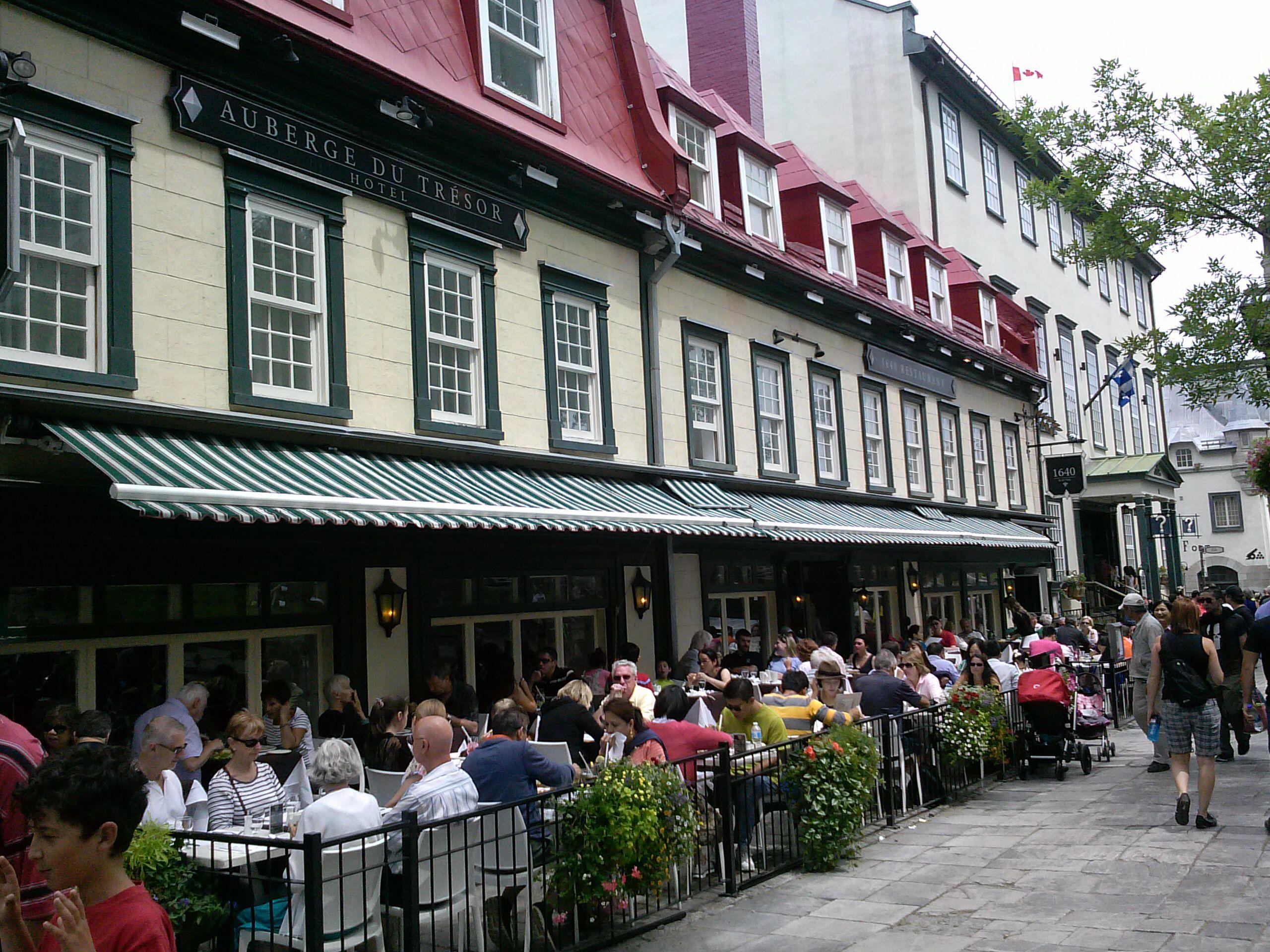Quebec City In Old Quebec Restaurants Are Plentiful Villes