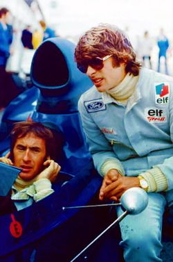 Team mates and friends Jackie Stewart and François Cévert.