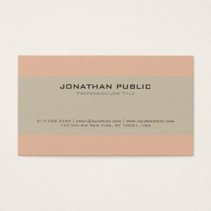 Stylish Professional Harmonic Vintage Colors Business Card - love gifts cyo personalize diy