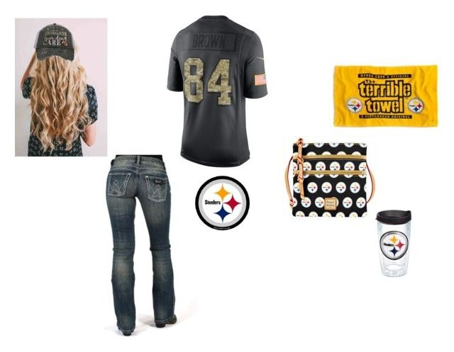 """Hold down the North🏈💛❤︎"" by johndeerebabe on Polyvore featuring Wrangler, Dooney & Bourke, NIKE, Tervis and Katydid Collection"