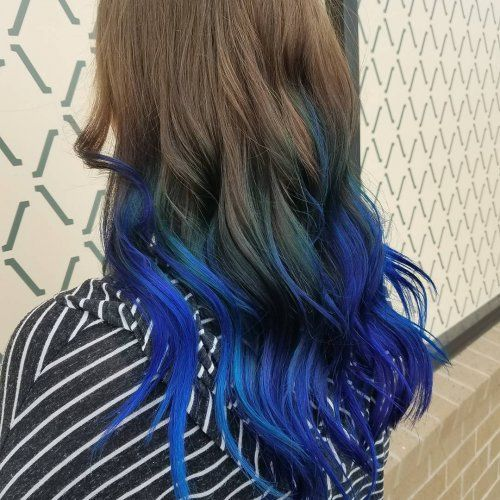Wonderbaarlijk Blue Ombre and Balayage Hair Color, blue highlights   Hair Colors KZ-21