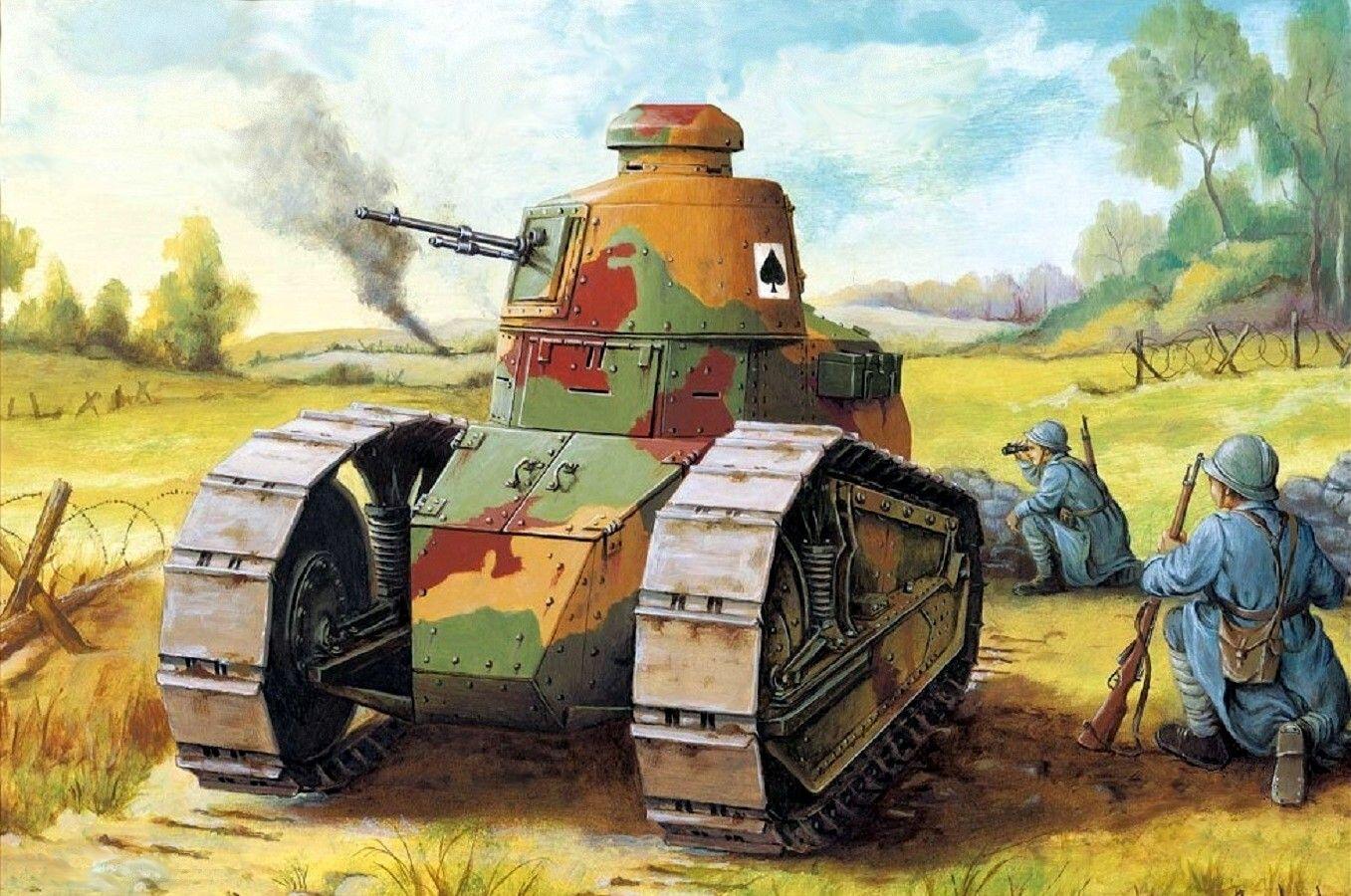 Peter Dennis Osprey Bing Obrazy French Renault Ft 17 Zametki Na Budushe World War One Military Art I Wwi