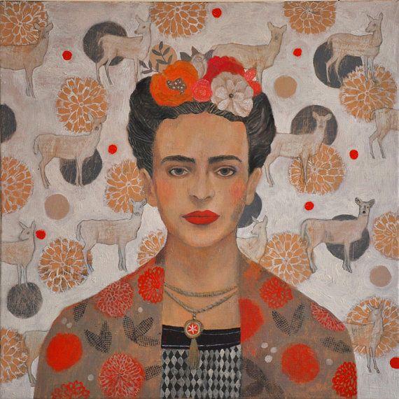 Frida Kahlo Portrait  Signed Giclée Fine Art by MartynaZoltaszek