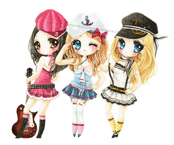 Best Friends Forever Chibi Photo Gallery Anime Best Friends