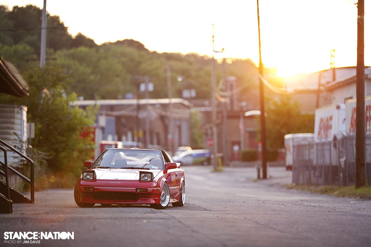Alfa img showing gt mr2 stance background -  Toyota Mr2 Mk1 Red