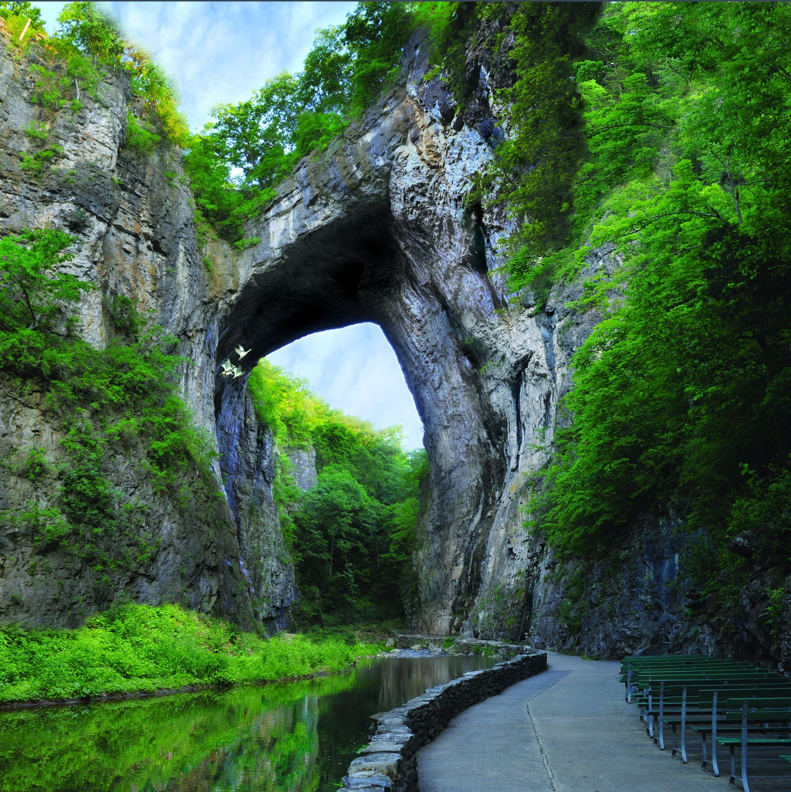 At The Natural Bridge Of Virginia Walk Through The Great Stone Archway And Alongside The Cedar Cr Natural Bridge Virginia Natural Bridge Virginia Is For Lovers