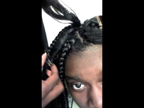 Diy Rubber Band Method Box Braids Part 1 Youtube Kids