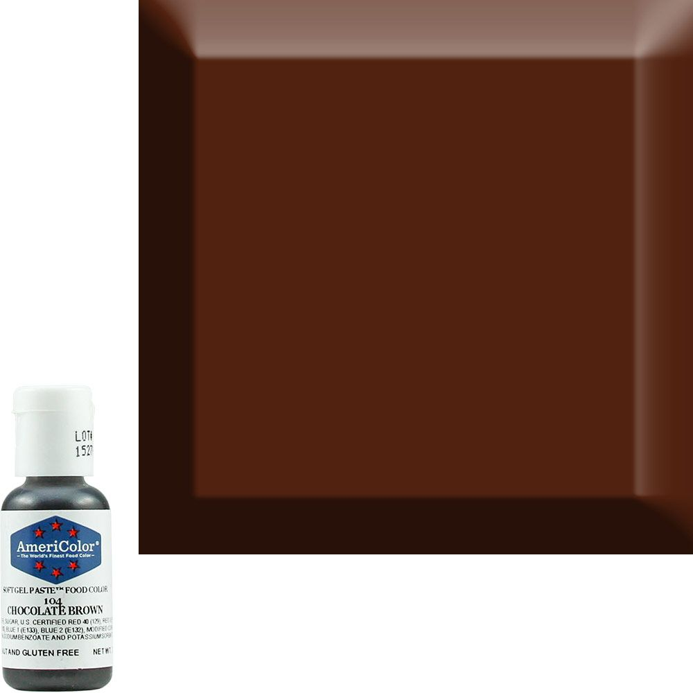 Chocolate Brown AmeriColor® Soft Gel Paste™ Food Color ...