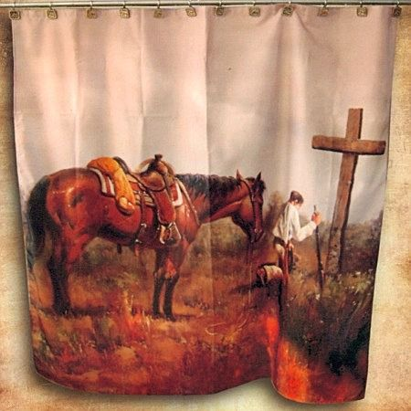 Praying Cowboy Shower Curtain Monstermarketplace Com Western