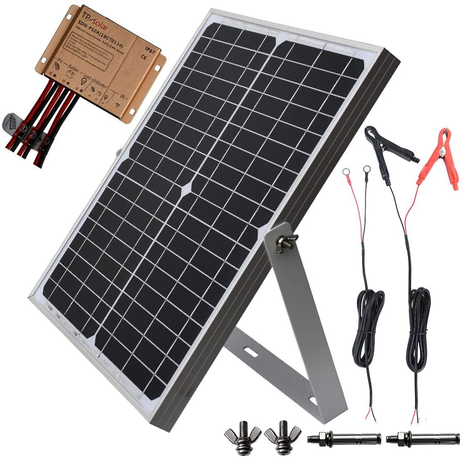 Amazon Com Tp Solar 20w 12v Solar Panel Kit Battery Charger Maintainer 10a Waterproof Solar Charge Controlle In 2020 12v Solar Panel Solar Panels Solar Power House
