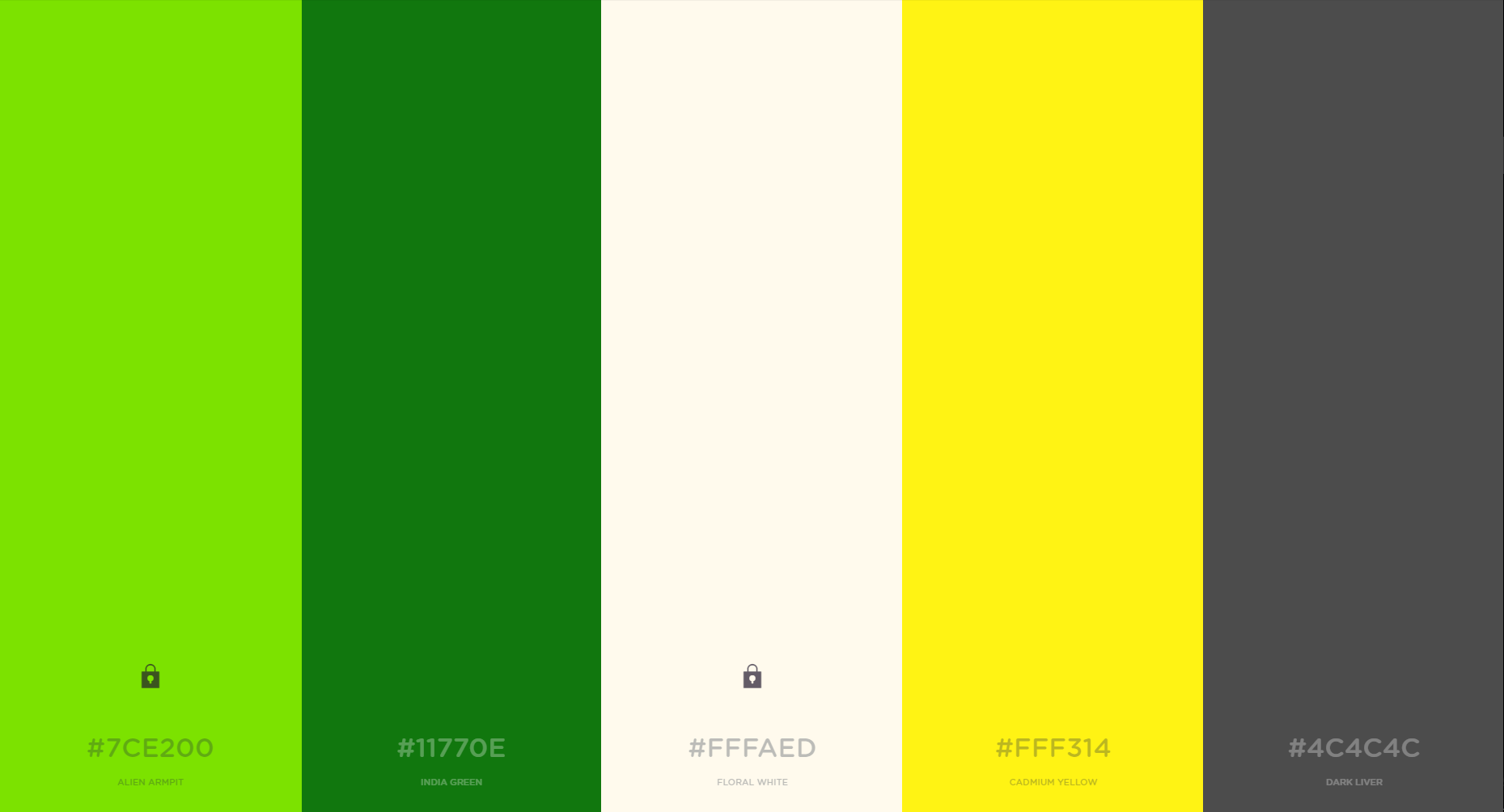 Color Palette Example - Green / Yellow / White / Grey | ccc420 ...