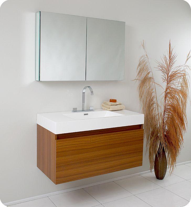 modern bathroom vanities. Fresca Mezzo Teak Modern Bathroom Vanity  Remodel Ideas