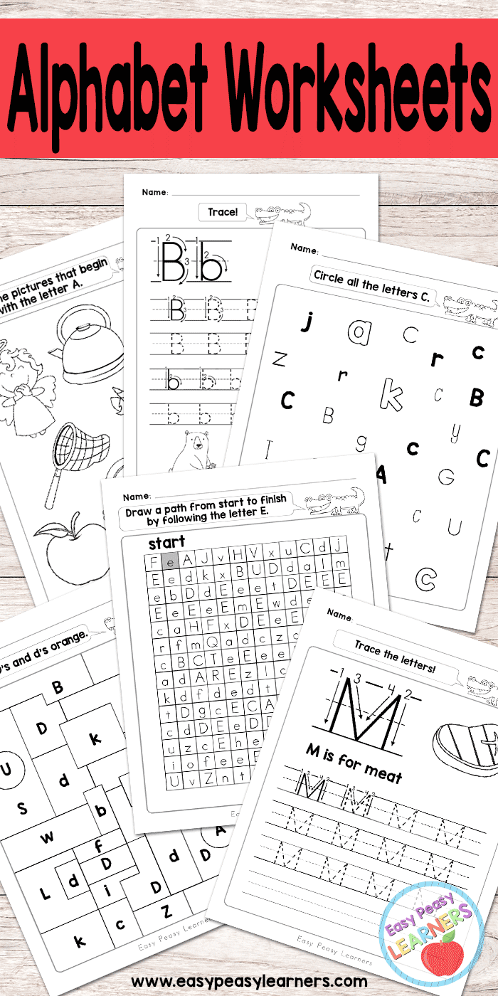 alphabet worksheets tracing identifying letters and more abc themes for kids alphabet. Black Bedroom Furniture Sets. Home Design Ideas