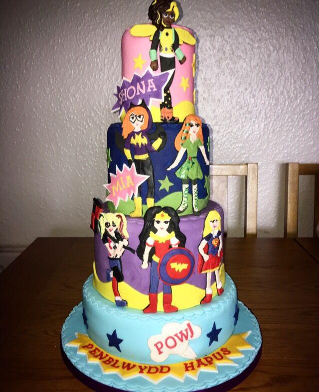 DC superhero girls cake | D.C. Girls cake in 2019 | Dc superhero ...