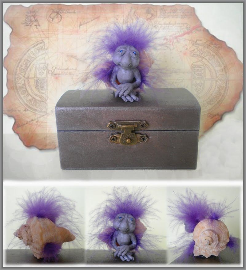 By Silver Berry. Ooak Art Doll One of a Kind Fantasy Sculpture.