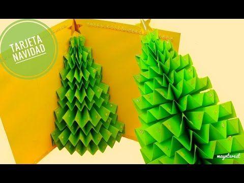 DIY TARJETA DE NAVIDAD rbol o Pino 3D Popup YouTube Navidad
