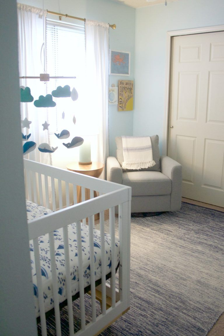 Lincoln S Relaxing Beachy Keen Affordable Nursery Budget