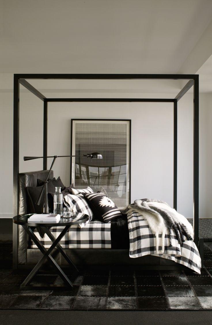 Plaid Bedroom Ralph Lauren Homes Modern Plaid Bedding In A Sleek Palette Of