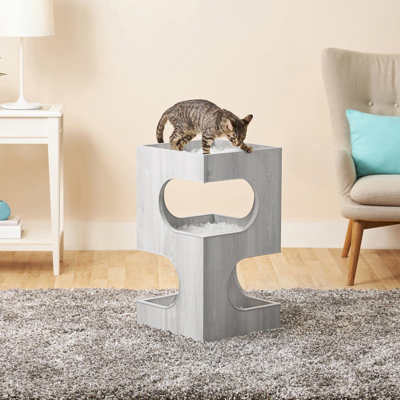 Frisco 28 In Modern Cat Tree Condo Gray In 2020 Modern Cat Tree Cat Tree Condo Modern Cat Furniture