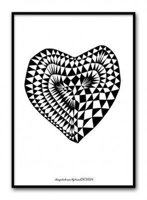 Poster - Hjärta Ruta room99.se
