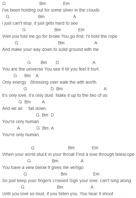 Cheryl - Only Human Chords Capo 4 | Cheryl | Pinterest | Cheryl ...