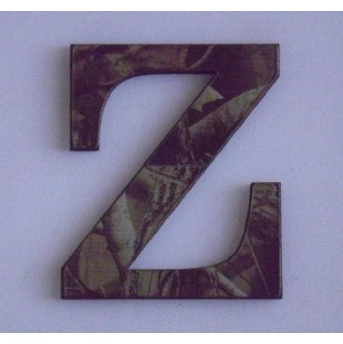 """11 Inch Tall Letter """"Z"""" Designer Wood Camouflage  ($11.95)"""