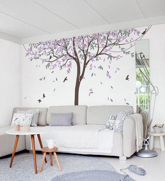 Kindergarten willow tree wand aufkleber wand aufkleber   baum wall ...