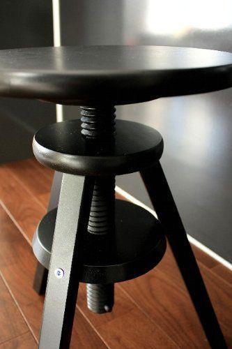 Ikea Hocker Drehhocker Barhocker Stuhl Hohenverstellbar 43 58 Cm Schwarz Neu Ikea Hocker Stuhl Hohenverstellbar Hocker