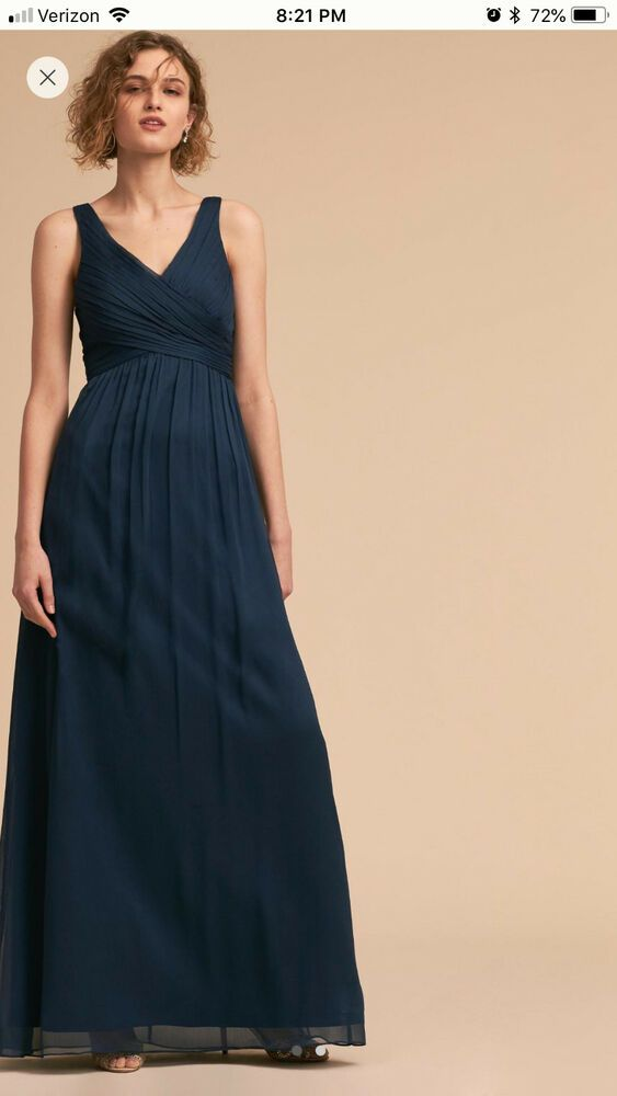 high fashion where to buy reliable quality BHLDN (Anthropologie) - NEW Navy Bridesmaid Dress (Angie ...