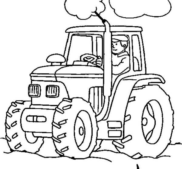 Tractor Coloring Pages And Book Tractor Coloring Pages Kindergarten Coloring Pages Coloring Pages For Boys