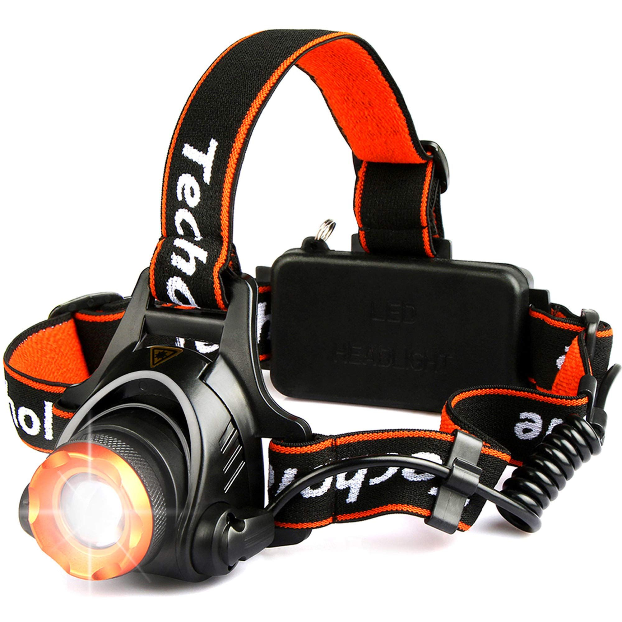 Techole Headlamp Flashlight 2000 Lumen Zoomable And Rechargeable Led Head Lamp Up To 500ft Light Beam With 3 Modes Adjust In 2020 Usb Rechargeable Headlamp Flashlight