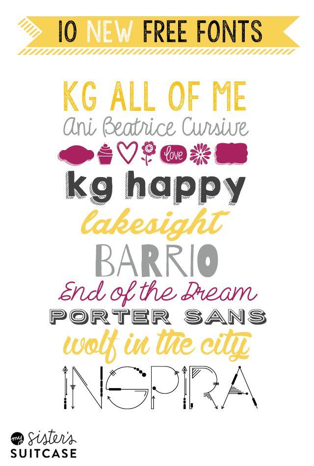Free Fonts: 10 Brand-New FREE Fonts | Fonts | Fonts