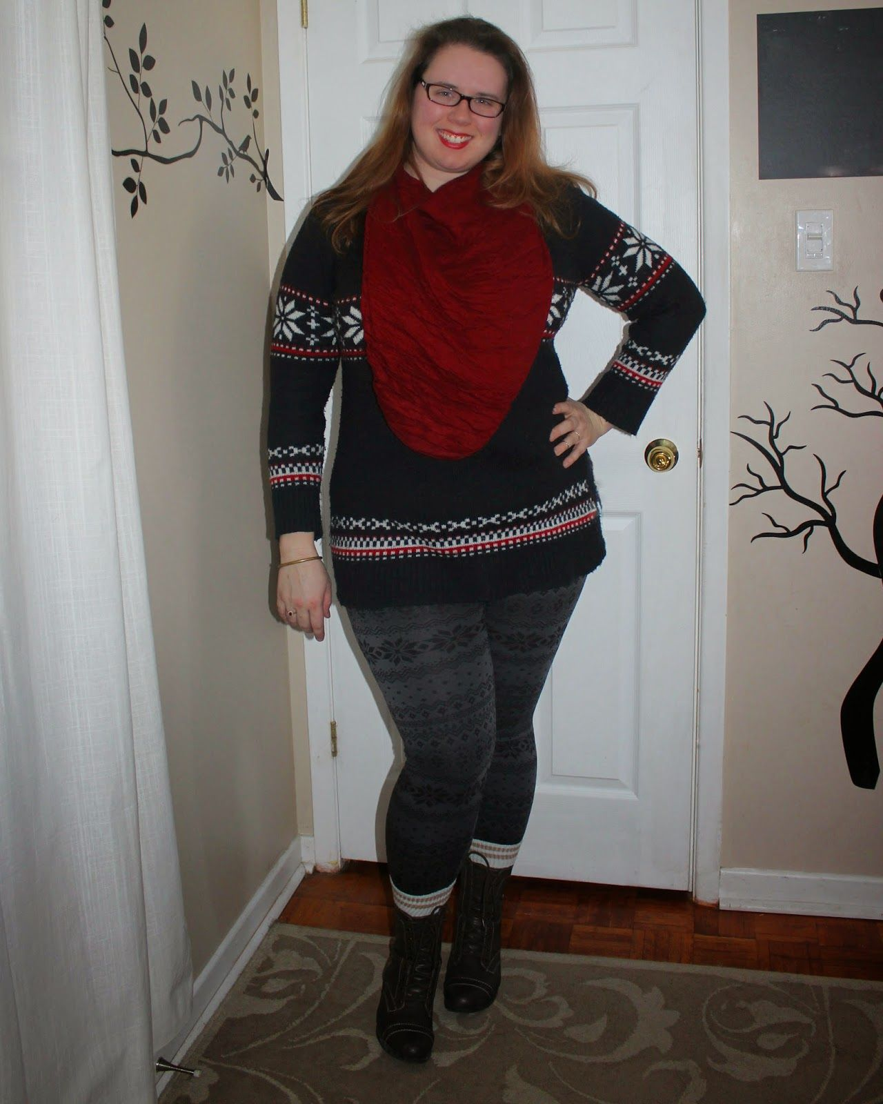 What Mama Wears: Still Winter. Fair Isle print leggings, fair isle ...